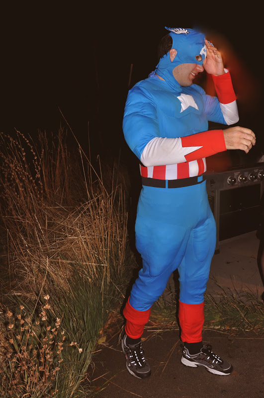 Captain America adult halloween costume