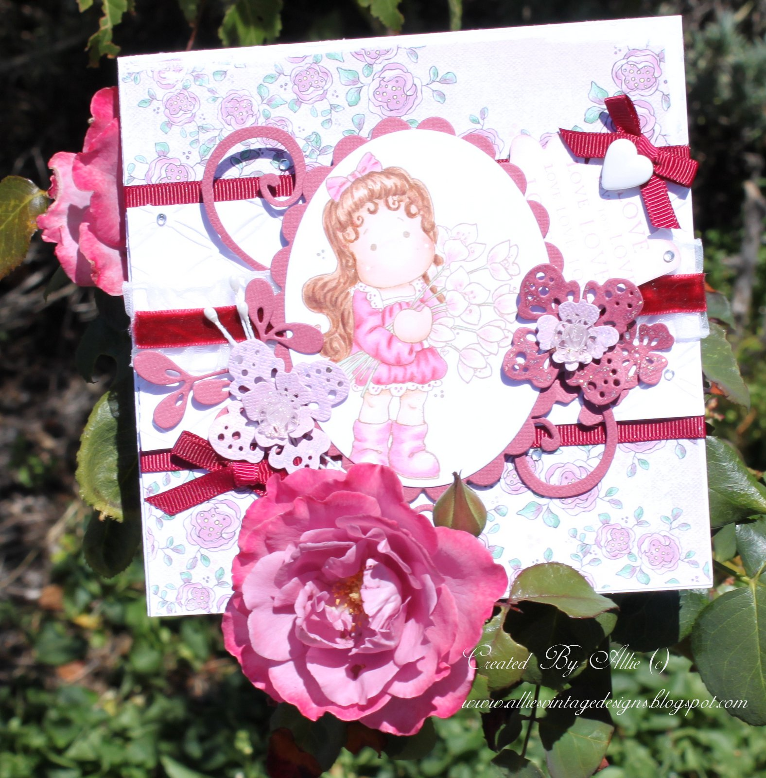 Vintage blue tilda with hellebores handmade magnolia card flowers i will show you what i mean its just a beautiful gardenher sanctuary sorry some pics are a little blurry4 yr olds butterflies and izmirmasajfo