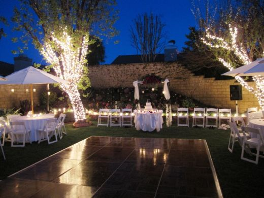 Backyard wedding decorations living room interior designs