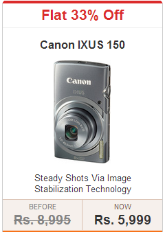 Flipkart : Canon IXUS 150 Point & Shoot Camera for Rs 5995