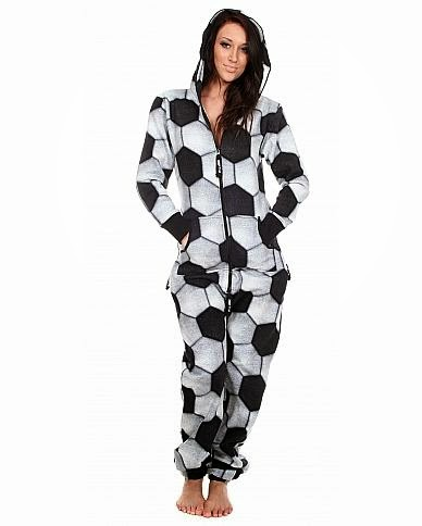 Soccer Adult Fleece Onesie