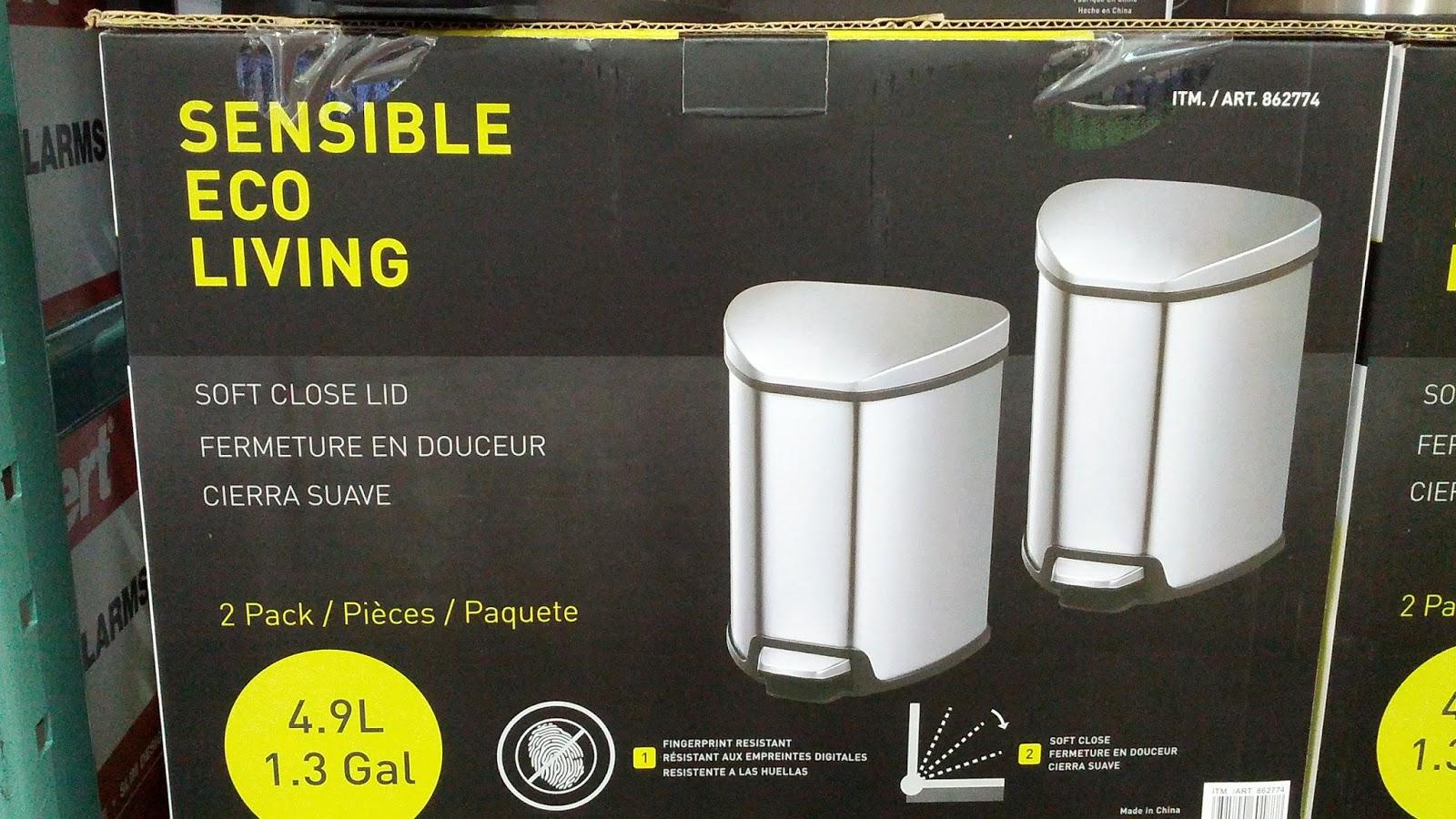 sensible eco living trash can instructions