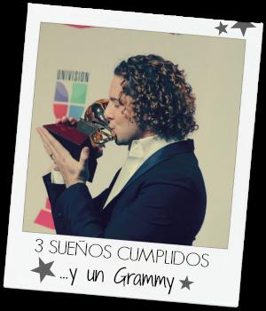 David Bisbal Grammy Latino 3 suenos cumplidos