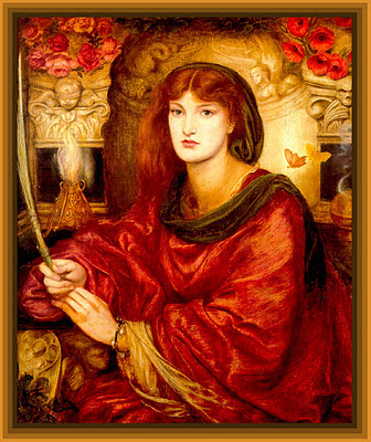 pintura vintage de Dante Rossetti para scrapbooking