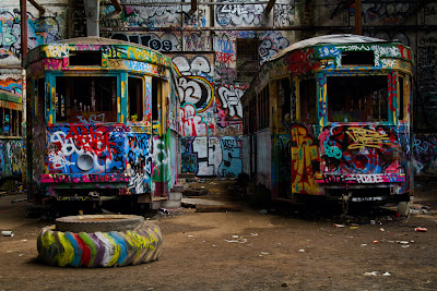 Some of the Trams - Glebe Tram sheds