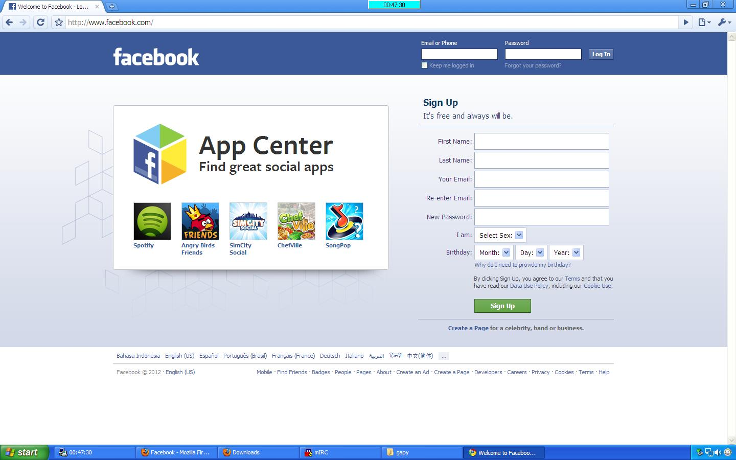 Facebook Home Page This social network's homepage