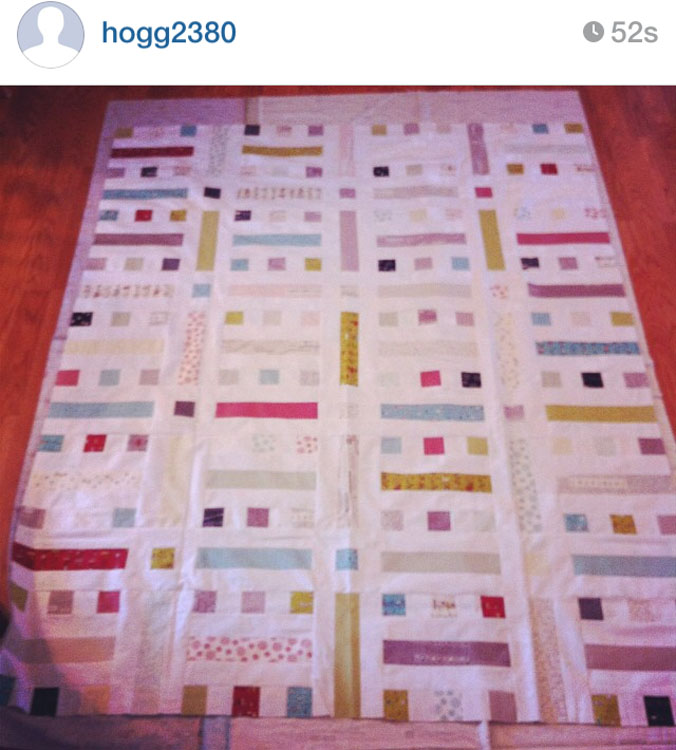 FLOORPLAN Quilt - Made by Dan @hogg2380 // Pattern by Kristy Daum