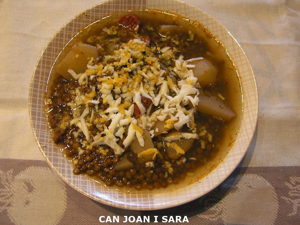 Can joan i sara lentejas con patata huevo y chorizo embutidos alejandro - Lentejas con costillas y patatas ...