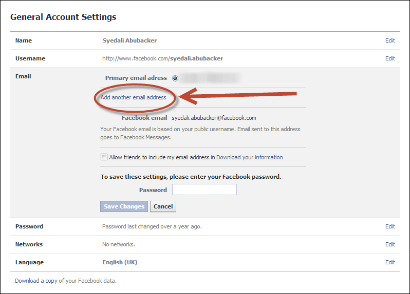 How to change primary email address on ipad