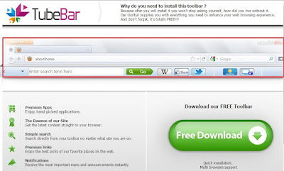 TubeBar Toolbar official site