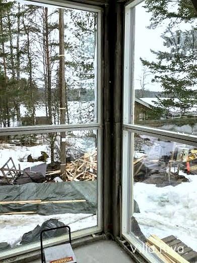 isot ikkunat skaala maisema raksa