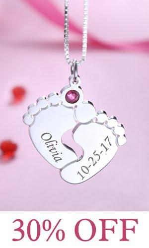 getnamenecklace baby engraved necklace online