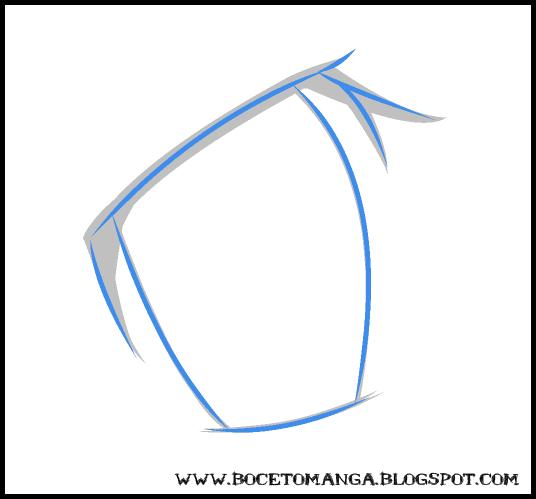 extremo interior y la terminación del ojo en la extremidad exterior