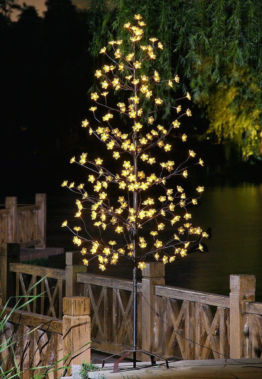 Lightshare light up the outdoor patio or porch with for Decorating outdoor trees