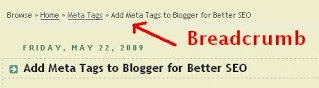 Add Google Breadcrumb for Blogger
