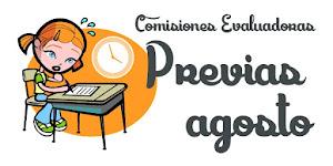 COMISIONES EVALUADORAS PREVIAS DE AGOSTO