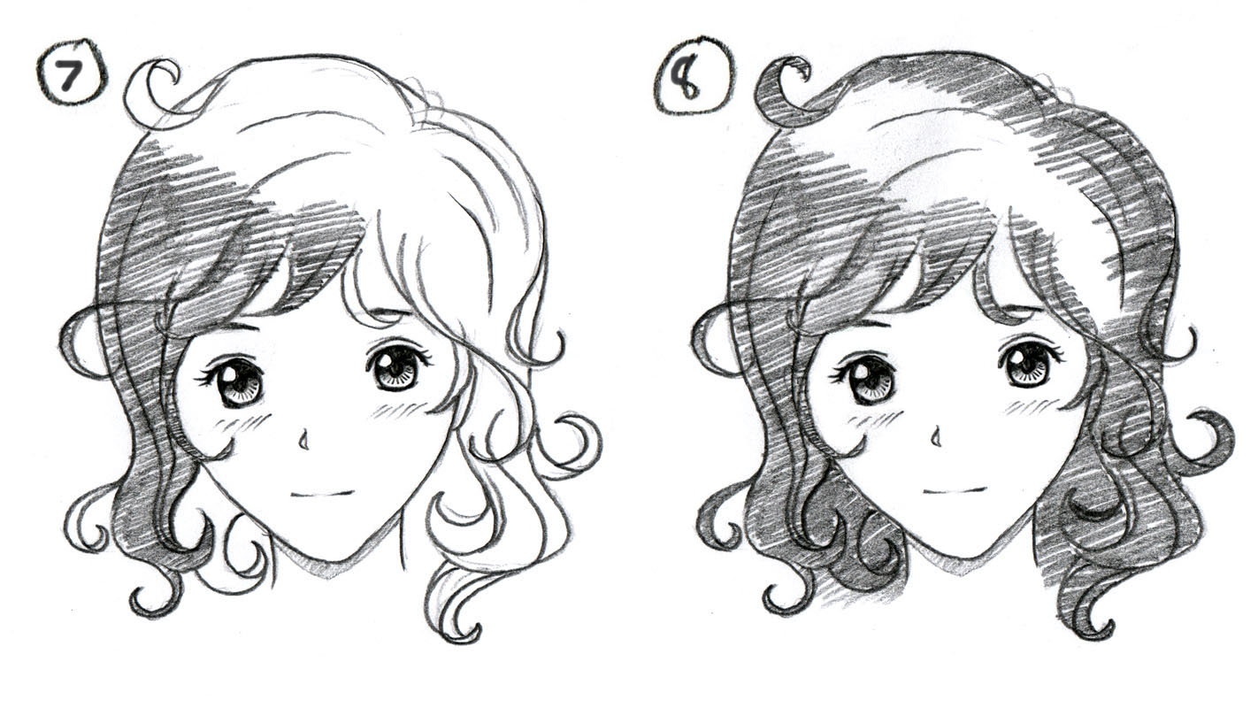 Johnnybros how to draw manga how to draw manga hair part 1 the basics