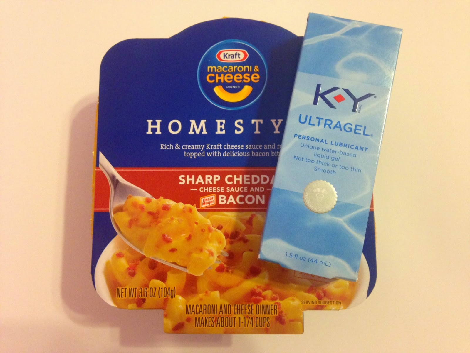 Kraft Macaroni & Cheese, KY Ultragel