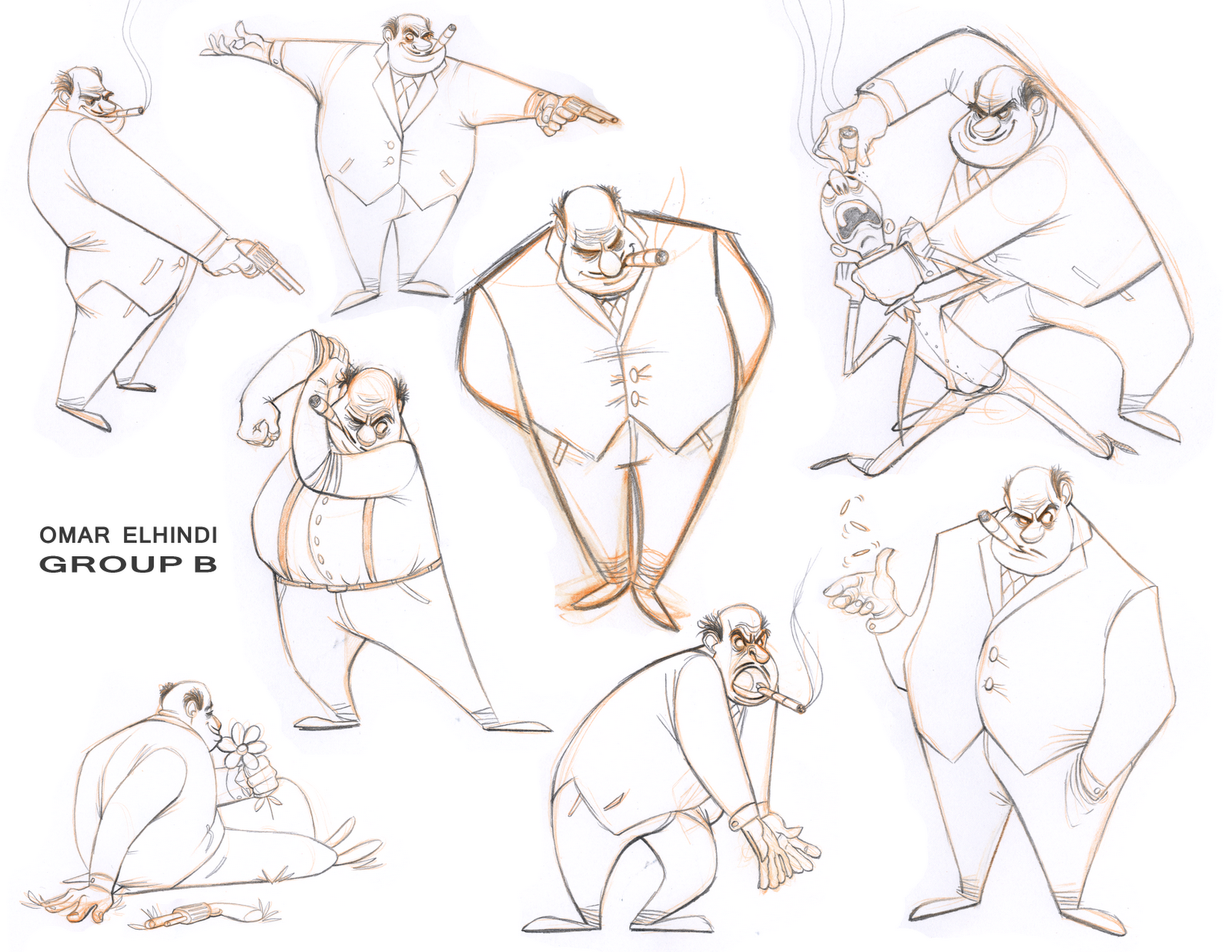 Character Design Poses : Omar s animation character posing