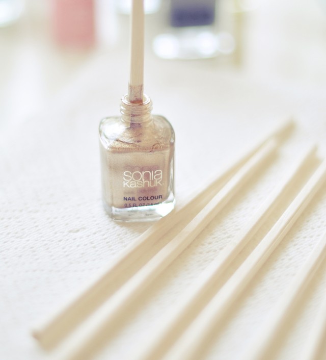 how to get nail polish remover out of wood table
