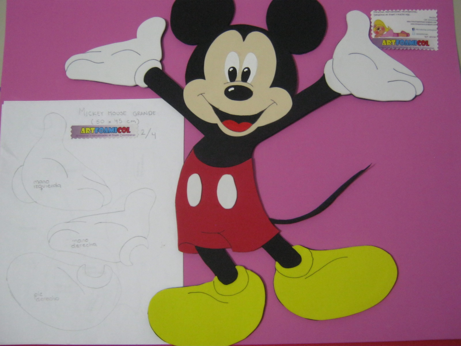 Mis Fofuchas 2013 Artfoamicol: Decoracion Infantil Mickey Mouse De ...