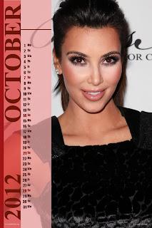 Kim Kardashian Desktop Calendar 2012