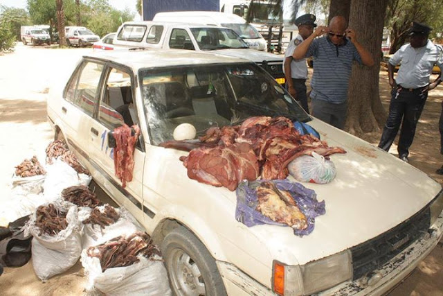 Namibia mobile meat shop