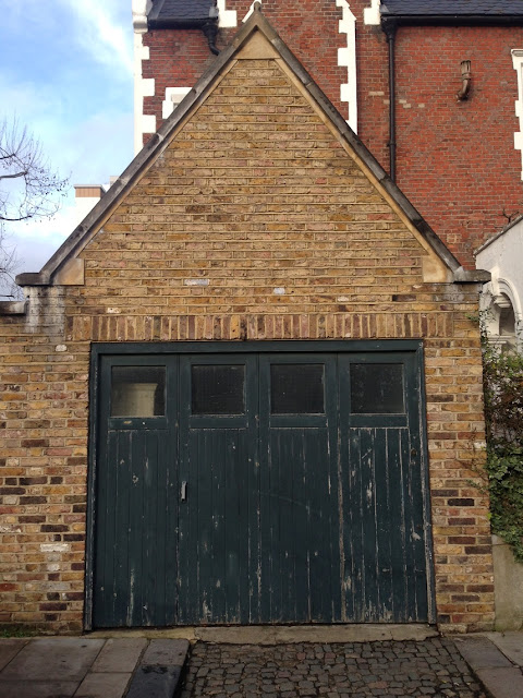 Wooden garage doors, Quensdale Road, London W11