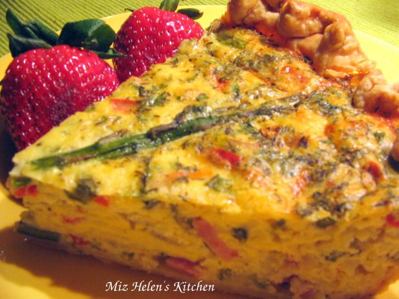 Miz Helen's Country Cottage: Ham and Asparagus Quiche