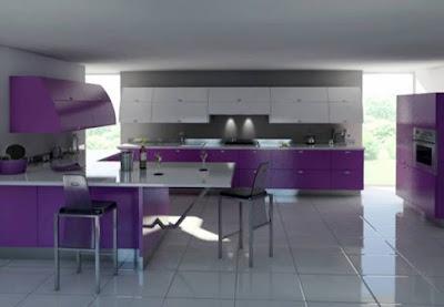 Kitchen Purple Design, kitchen design, Modern kitchen design,