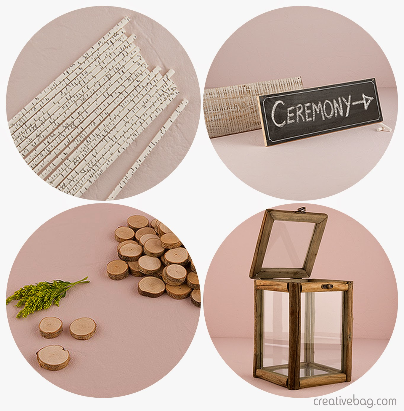 woodland themed details for the reception | Creative Bag
