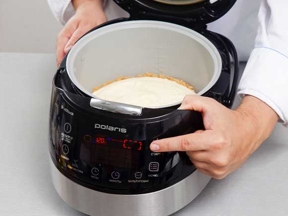 Дать полностью остыть, затем переложить из чаши на блюдо