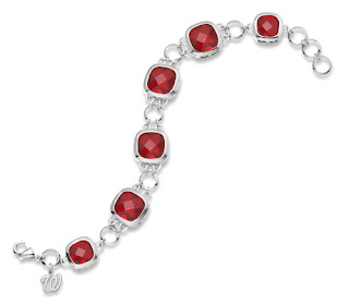 Washington Nationals MLB Silver Crystal Legend Bracelet