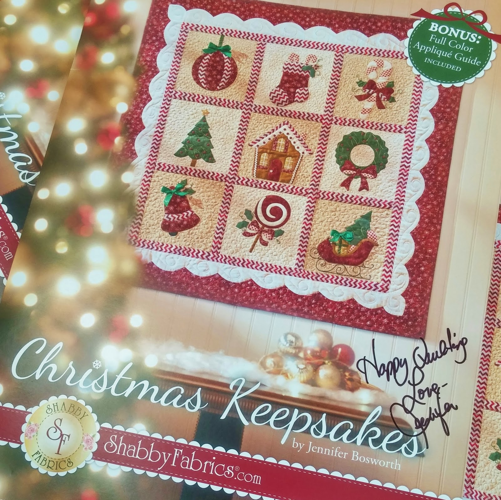 Shabby Fabrics Christmas Keepsakes Book | Signed