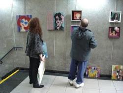 Preparando mis obras en la exposición individual ......