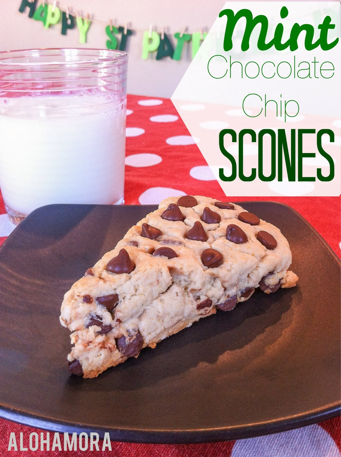 No cutting, use a blender for these Mint Chocolate Chip Scones.  Easy, delicious, and the perfect tea party treat Alohamora Open a Book http://alohamoraopenabook.blogspot.com/