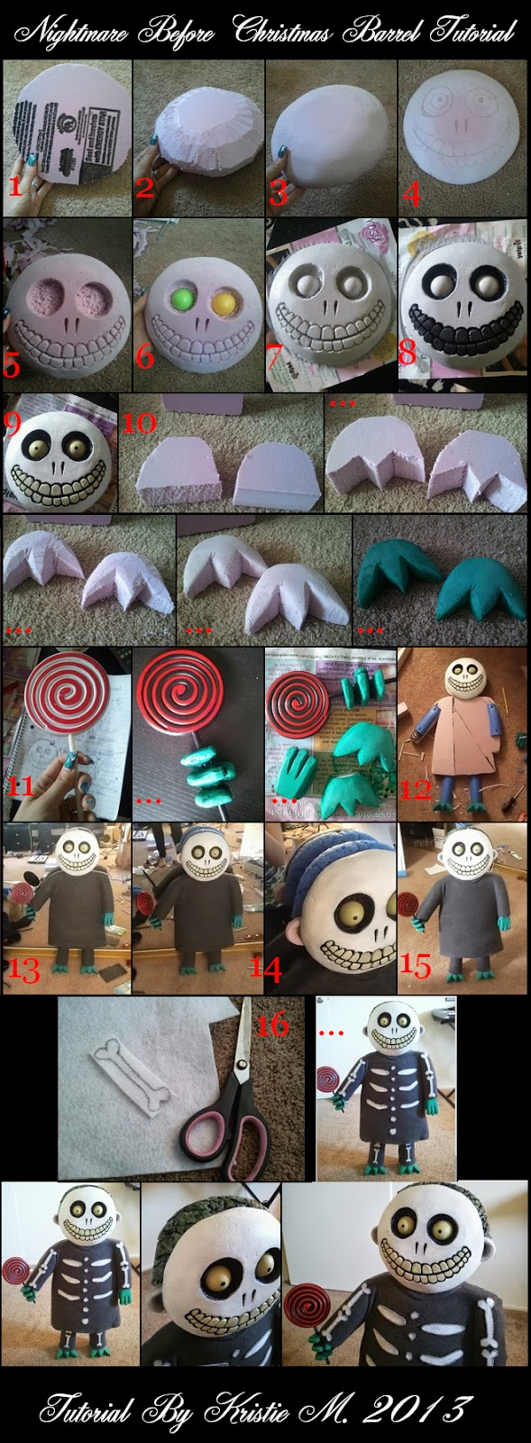 Diy nightmare before christmas halloween props 2013 detailed tutorial corresponds with the picture tutorial above solutioingenieria Choice Image