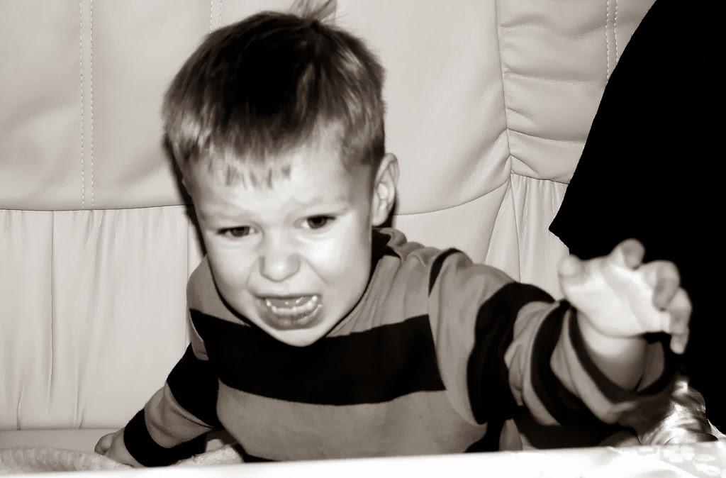Child Boy Expressing Rage