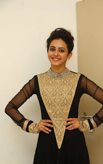 Rakul Preet Singh Pictures in Stylish Long Dress at Harinath Wedding Reception