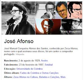 """Zeca Afonso ( clica na imagem para ouvires uma das suas belas canções  """" Menino do Bairro Negro"""""""