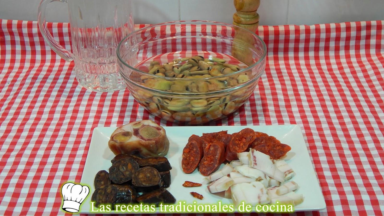 Receta fácil de habas cocidas con chorizo y morcilla