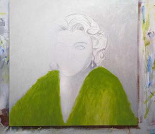 Estudando próximo Matilde - acrílica s/ tela90x90cms