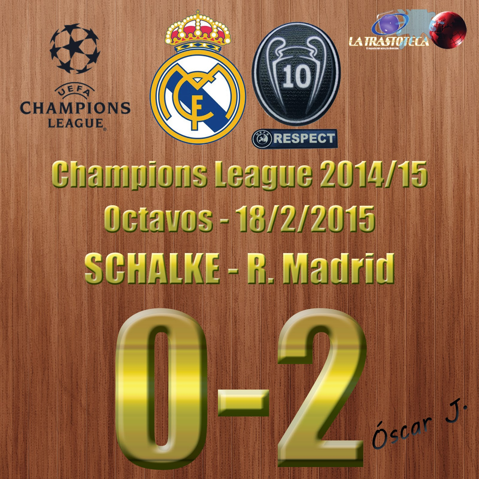 Shalke 04 0-2 Real Madrid - Champions League 2014/15 - Octavos - (18/2/2014)