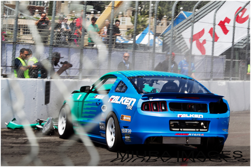 Falken Tire, Mustang, drift crash