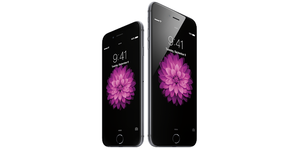 Apple iPhone 6 vs. Apple iPhone 6 Plus (lockscreen)