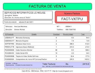 Factura Java