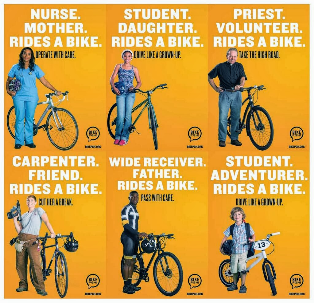 WE RIDE BIKES ! ALLOW US TO ENJOY THE RIDE IN SAFETY !