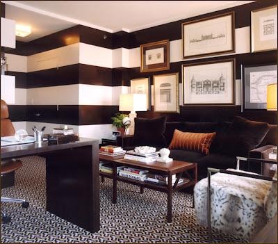 papel de parede listras preta e branca