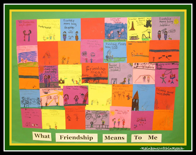photo of: Paper Quilt: What Friendship Means to Me -- Quilt RoundUP via RainbowsWithinReach