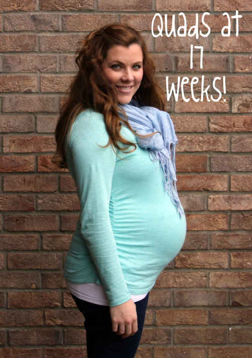Texas Tales: {Quad Squad} 17 & 18 weeks + Bare Belly Pics!